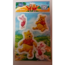 Disney 3D Stickers - Winnie The Pooh - Pack Of 3