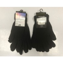 Warm Land Ladies Thermal Gloves - Black - One Size