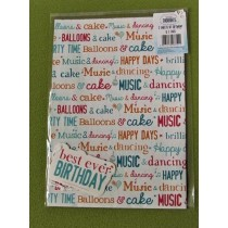 Little Thoughts Best Ever Birthday Gift Wrapping Papers & Tags - Pack of 2 - 50cm X 69.5cm