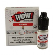 Wow Premium E-Liquid - Red Haze - 3mg - 3 x 10ml - 06/19