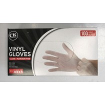 Extra Large Disposable Vinyl Clear Gloves Powder & Latex Free Food Medical Cleaning - Box of 100