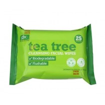 Xpel Brand - Tea Tree And Peppermint Biodegradable & Flushable Daily Use Facial Cleansing Wipes - Pack of 25 Wipes