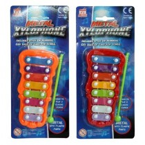 A to Z Music Metal Xylophone with Stick - Assorted Colours