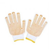 Easi Safe Work Wear PVC Polka Dot General Purpose Work Gloves - Yellow - Small