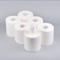 Eco Multi Purpose Kitchen Towel Paper Roll Centre Feed Tissue - Eco White - 105 Metres - 2 Ply - Extra Strong/Absorbent