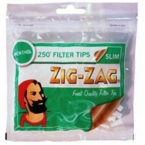 Zig Zag Menthol Slim Finest Quality Filter Tips - Pack Of 250