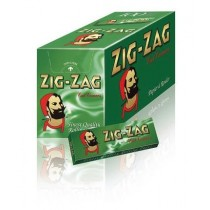 Zig Zag Green Standard Cut Corners Rolling Papers - 100 Booklets